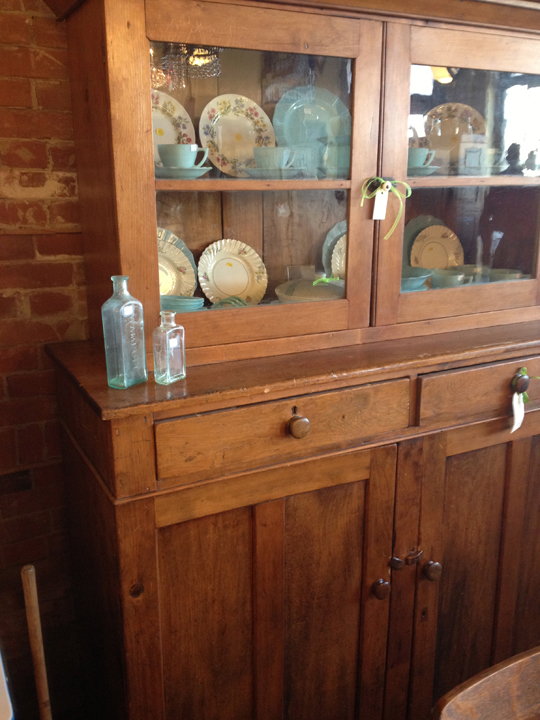 Old wooden hutch