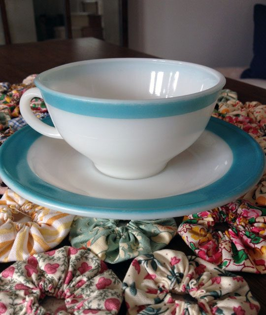 Pyrex tea cup